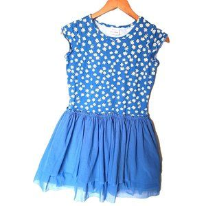 Hanna Andersson Blue Daisy Twirl Dress 12 Years